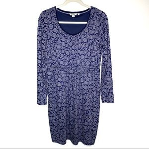 Boden Blue Floral Mabel Jersey Dress Size 8